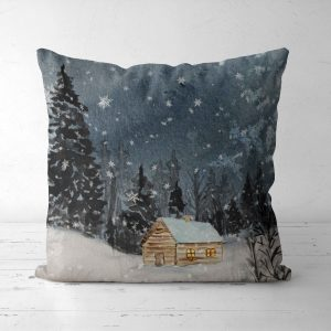 Dekoracna obliecka na vankus s vianocnym motivom 40x40